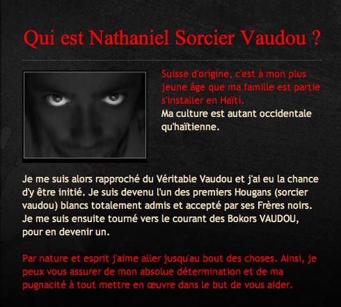 Nathaniel Sorcier Vaudou
